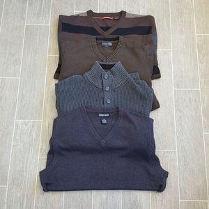 4 Pc Mens Sweater Bundle Size Large